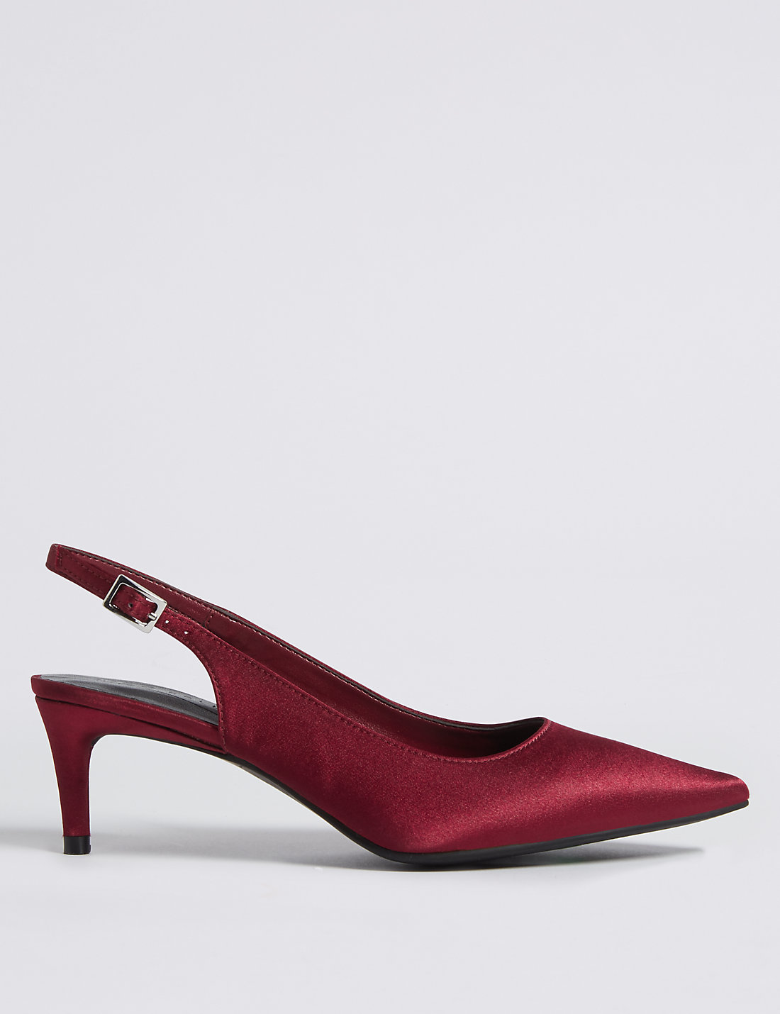 Kitten Heel Slingback Court Shoes | M&S