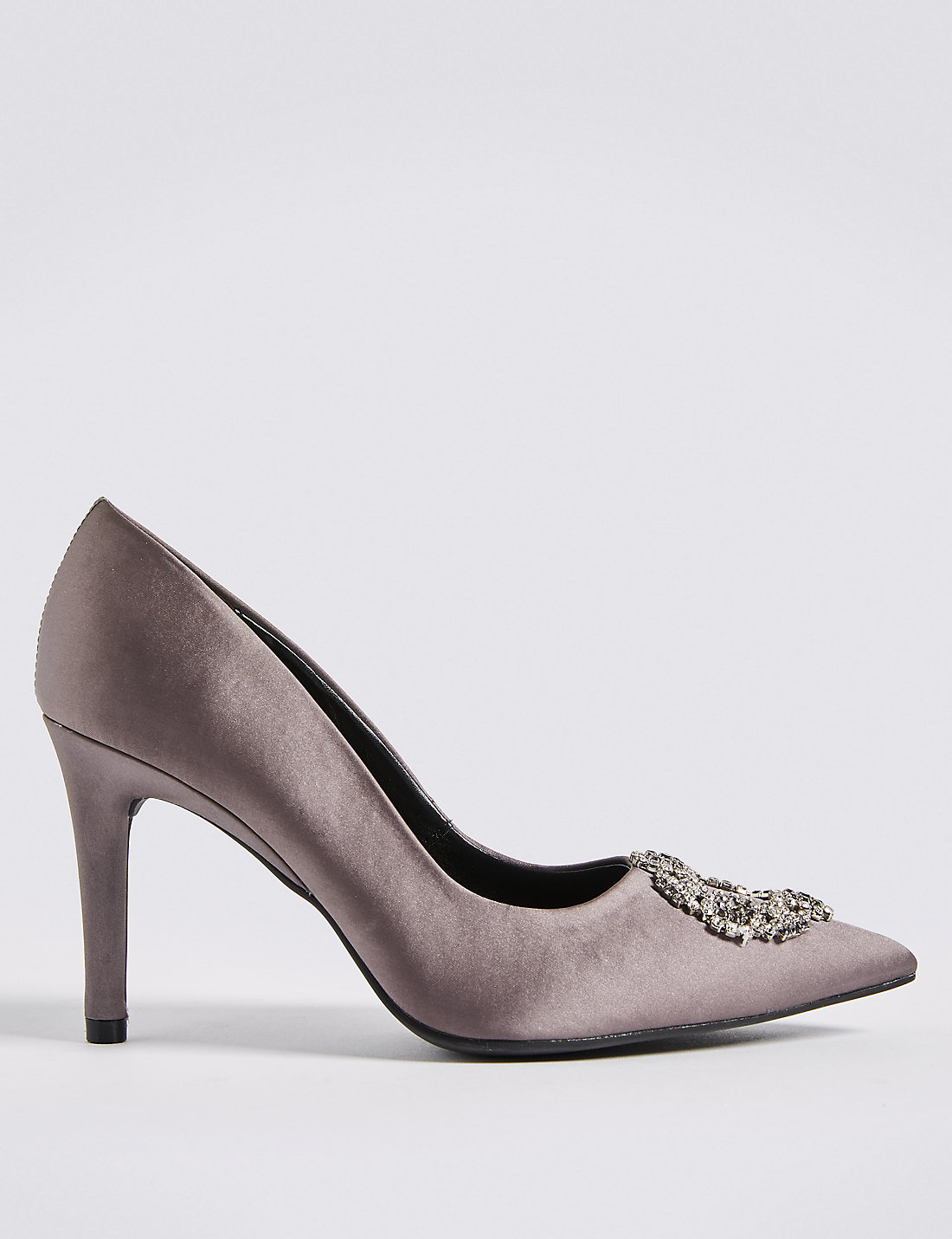 grey shoes for wedding. stiletto heel trim pointed court shoes grey for wedding r