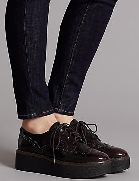 Leather Brogue Shoes, OXBLOOD, catlanding