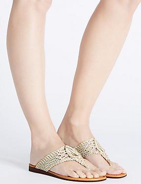Slip On Crochet Sandals , ECRU, catlanding