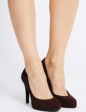 Stiletto Platform Court Shoes, OXBLOOD, catlanding