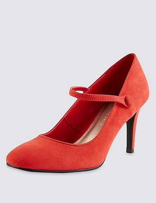 Dolly Court Shoes with Insolia®, RED, catlanding