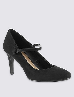 Dolly Court Shoes with Insolia®, BLACK, catlanding