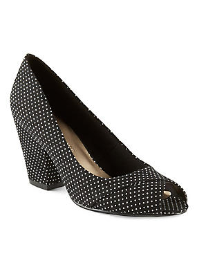 Peep Toe Court Shoes with Insolia®