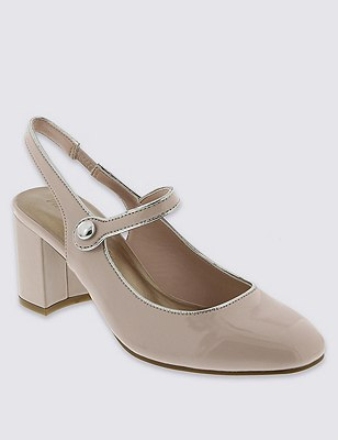 Slingback Dolly Court Shoes with Insolia®, BLUSH, catlanding