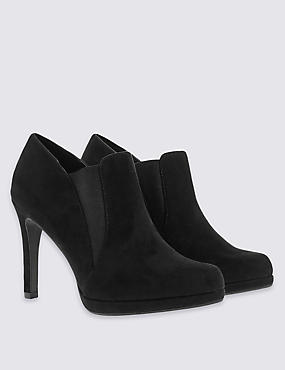 Platform Shoes Boot with Insolia®, BLACK, catlanding