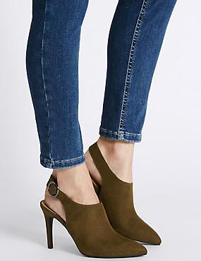 Stiletto Slingback Court Shoes, KHAKI, catlanding