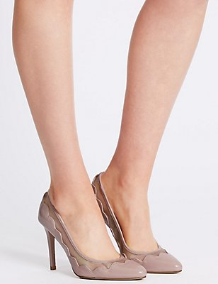 Stiletto Mesh Court Shoes, NUDE, catlanding