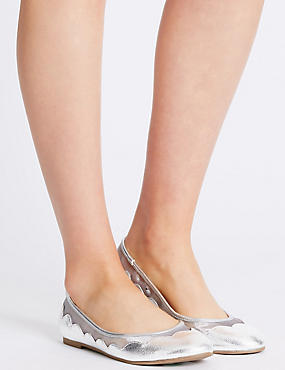 Slip-on Mesh Pump Shoes, SILVER, catlanding