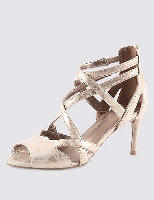 Strappy Sandals with Insolia®, CHAMPAGNE, catlanding