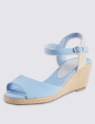 Open Toe Wedge Espadrilles, LIGHT BLUE, catlanding