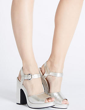 Platform Sandals with Insolia®, SILVER, catlanding