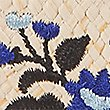 Angular Heel Embroidered Mule Shoes, NAVY, swatch