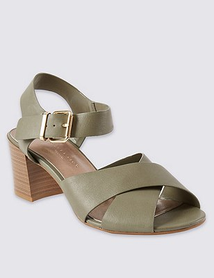 Wide Fit Crossover Sandals with Insolia®, KHAKI, catlanding