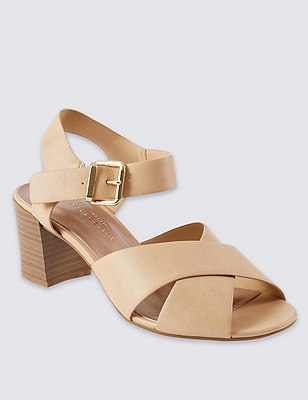 Wide Fit Crossover Sandals with Insolia®, TAN, catlanding