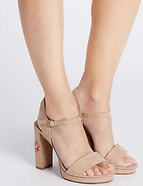 Sandales larges à semelle compensée et talons angulaires, ROSE ASSORTI, catlanding