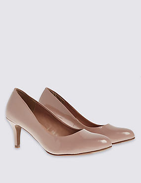 Almond Toe Wide Fit Court Shoes with Insolia®, CARAMEL, catlanding
