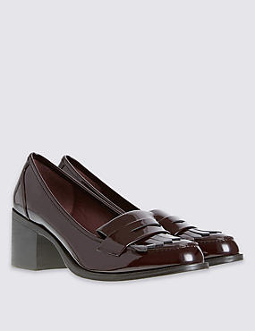 Wide Fit Heeled Loafer with Insolia Flex®, WINE, catlanding