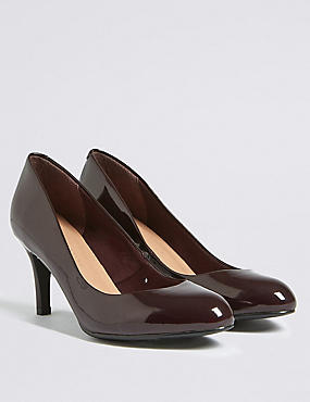 Wide Fit Stiletto Almond Toe Court Shoes, OXBLOOD, catlanding