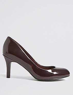 Wide Fit Stiletto Almond Toe Court Shoes, OXBLOOD, catlanding