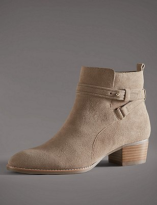 Stain Away™ Suede Ankle Boots with Insolia®, CAMEL, catlanding
