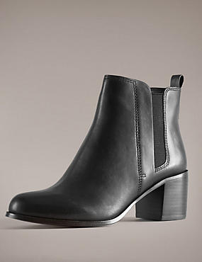 Leather Chelsea Ankle Boots with Insolia®