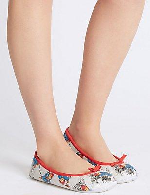 Paddington™ Ballerina Slippers, WHITE MIX, catlanding