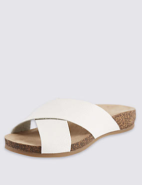 Faux Snakeskin Sandals, WHITE, catlanding