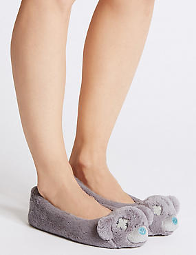 Ballerina Slippers, GREY MIX, catlanding