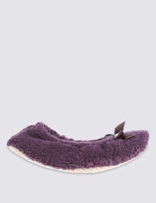 Мохнатые тапочки-балетки M&S Collection T023993