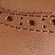 Leather Lace Up Flat Brogue Shoes with Insolia Flex®, TAN, swatch