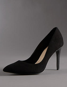 Stain Away™ Suede Pointed Toe Court Shoes with Insolia®
