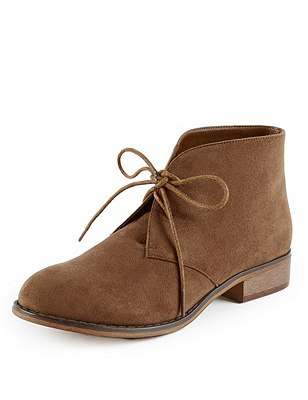 Faux Suede Lace Up Desert Boots with Insolia Flex®, SAND, catlanding