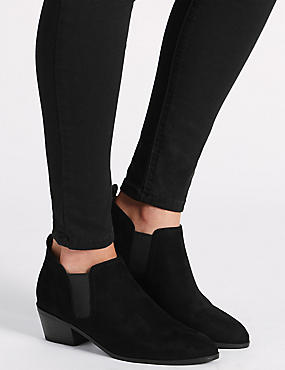 Western Ankle Boot with Insolia®, BLACK, catlanding