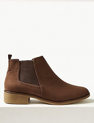 Block Heel Chelsea Ankle Boots, MINK, catlanding