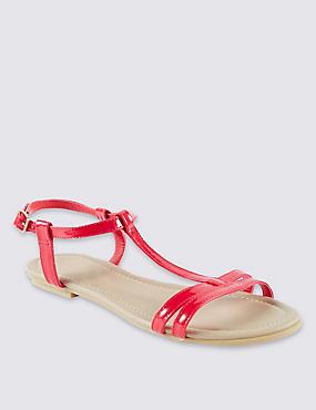 T-Bar Sandals, RED, catlanding