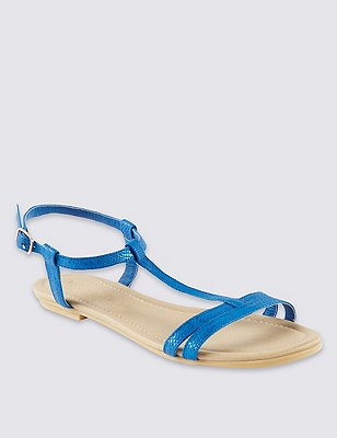 T-Bar Sandals, BLUE, catlanding