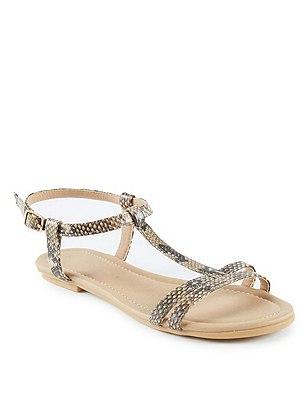 T-Bar Sandals, NATURAL MIX, catlanding