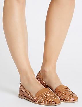 Caged Slip-On Sandals