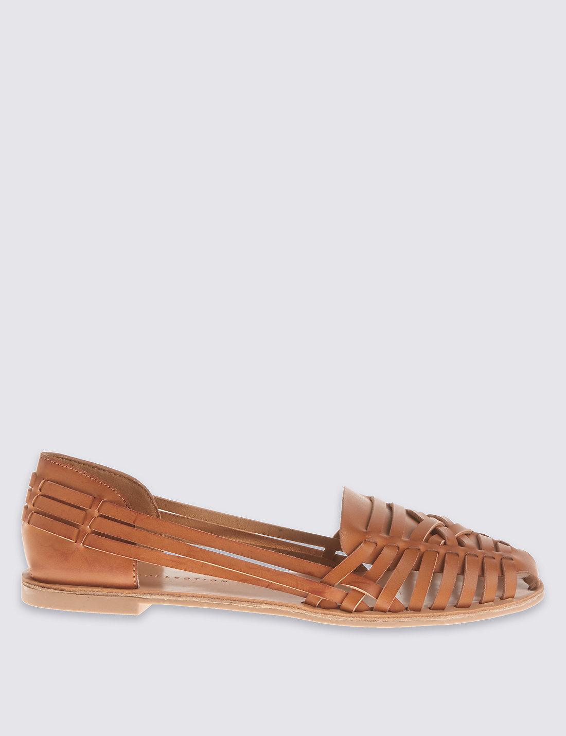 Flat sandals - Woven Flat Sandals