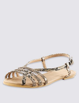 Strappy Sandals, NEUTRAL, catlanding