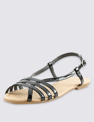 Strappy Sandals, BLACK, catlanding