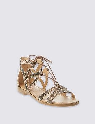 Ghillie Lace Up Sandals, NATURAL MIX, catlanding