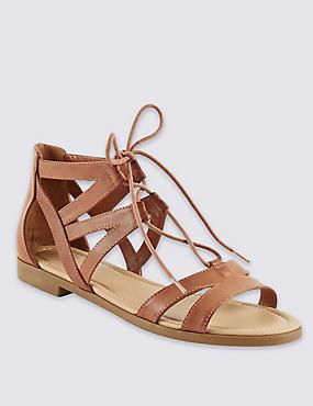 Ghillie Lace Up Sandals, TAN, catlanding