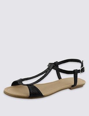 Teardrop Sandals, BLACK, catlanding