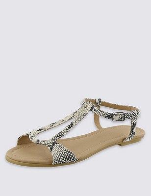 Teardrop Sandals, WHITE, catlanding