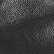 Sandales en cuir à semelle plate, NOIR, swatch