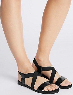 Block Heel Sandals with Insolia Flex®, BLACK, catlanding