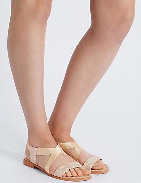 Sandales élastiques, ornées de brillants, CHAIR, catlanding