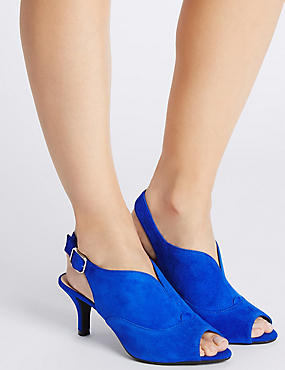 Suede Stiletto High Vamp Sandals, COBALT, catlanding